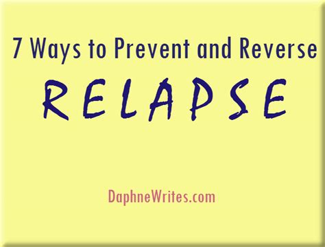 7 Ways To Prevent by 7 Ways To Prevent And Relapse Part 1 Of 2