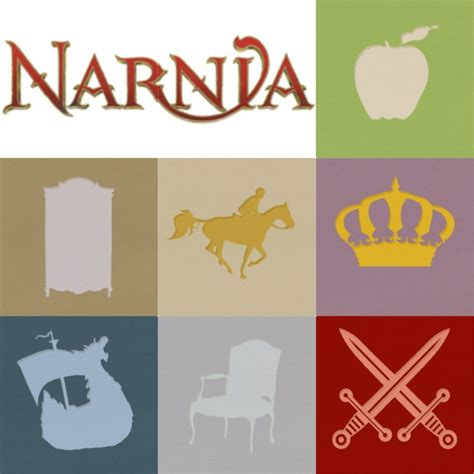 Symbols In The The Witch And The Wardrobe by Narnia Novels Minimalist Posters Canvas Prints
