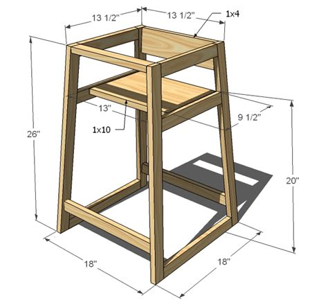 high chair woodworking plans woodwork baby high chair plans free pdf plans