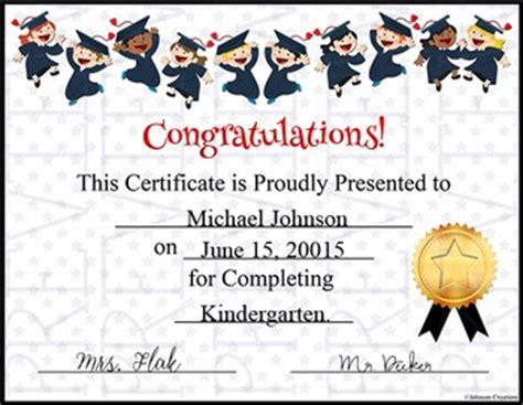graduation certificate elementary schools kindergarten