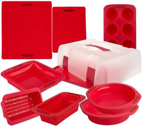 technique 10 pc silicone collapsible bake carry bakeware set page 1 qvc com