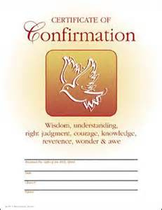 confirmation certificates templates certificates church supply