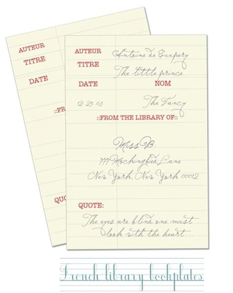 bookplate labels template images