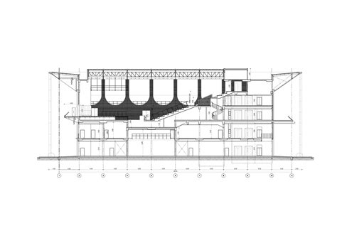 auditorium plan and section gallery of singapore international school of bangkok