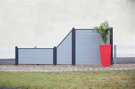 Gartenzaun Kunststoff Grau