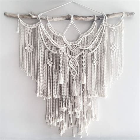 Macrame Wall Hanger - large macrame wall hanging a fusion knots and of course