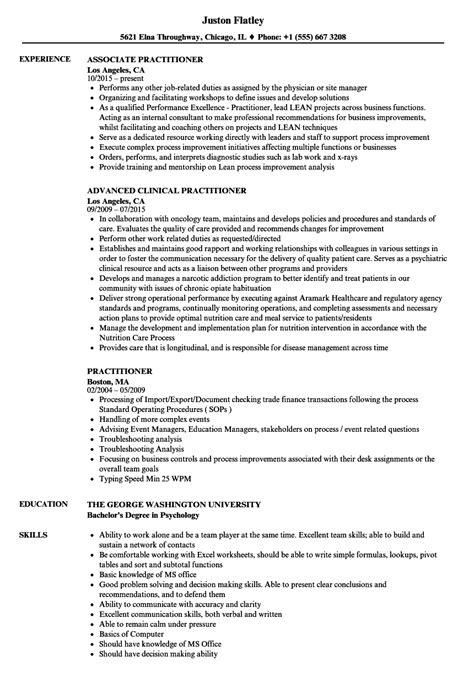 Practitioner Resume Exle by Practitioner Resume Sles Velvet
