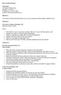 Data Architect Resume Sle by Data Architect Sle Resume Data Architect Resume