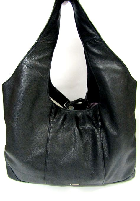 Kooba Large Devin Hobo by Kooba Hobos Kooba Black Owen Pebble Leather Hobo Handbag