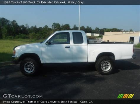 Toyota T100 4x4 White 1997 Toyota T100 Truck Dx Extended Cab 4x4 Gray