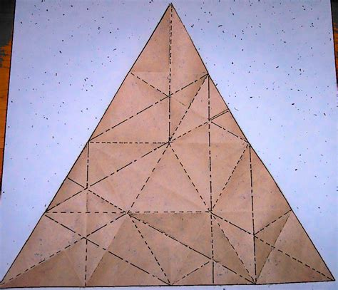 pattern for triangle box triangle box crease pattern flotsam and origami jetsam