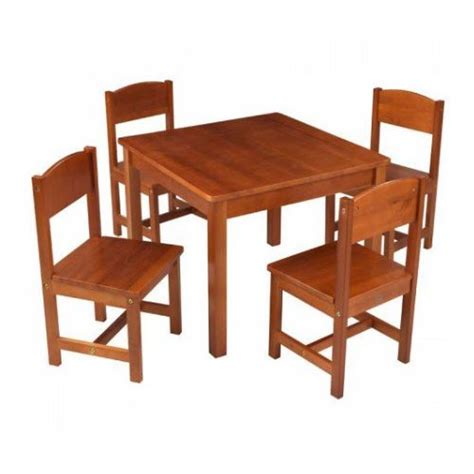 kidkraft farmhouse 5 square table and chair set