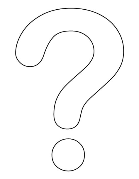printable question mark question mark pattern use the printable outline for