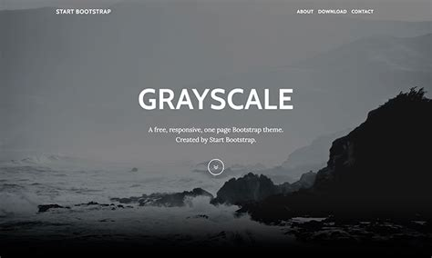 grayscale free one page bootstrap theme start bootstrap