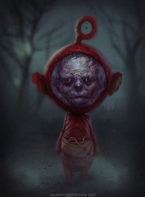 creepy po teletubbies art