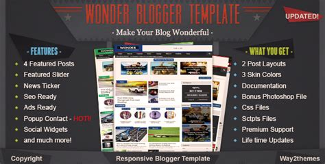 free download wonder responsive multimedia blogger