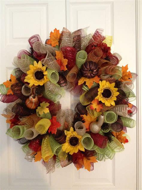 autumn curly deco mesh wreath fall mesh wreaths