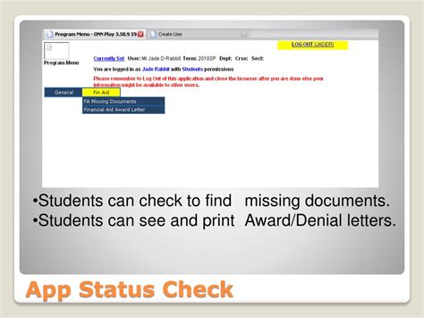 Status Search By Number Ppt Onnsfa Tools Applications Fnas Status Checks Powerpoint