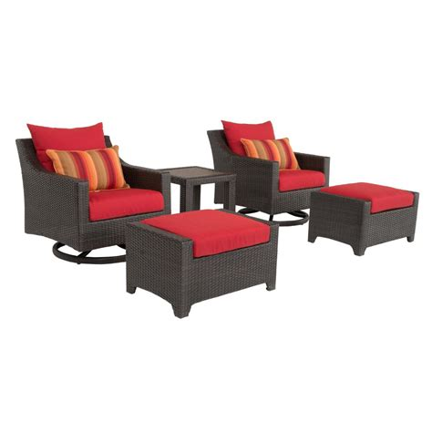 outdoor conversation sets with ottomans rst brands deco 5 all weather wicker patio deluxe