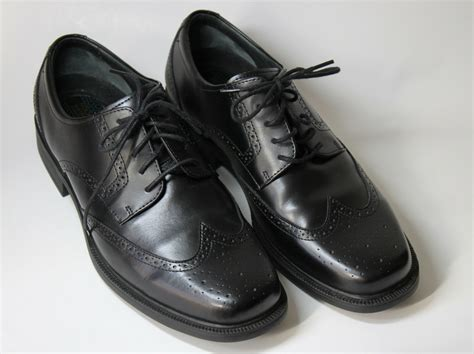 rockport mens black waterproof brogue oxford black dress shoes size 8 5 ebay