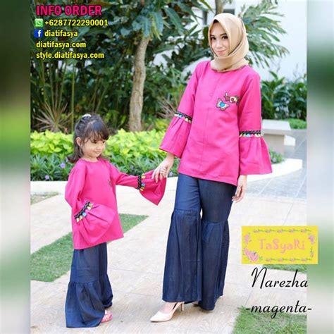 Setelan Ibu Dan Anak setelan baju muslim ibu dan anak perempuan terbaru 2017