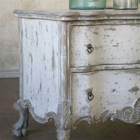 the shabbiest chick french linen and old white dresser