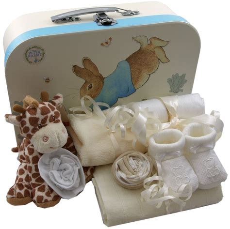 Unisex Baby Shower Gifts by Baby Gift Basket Packed Rabbit Unisex Baby