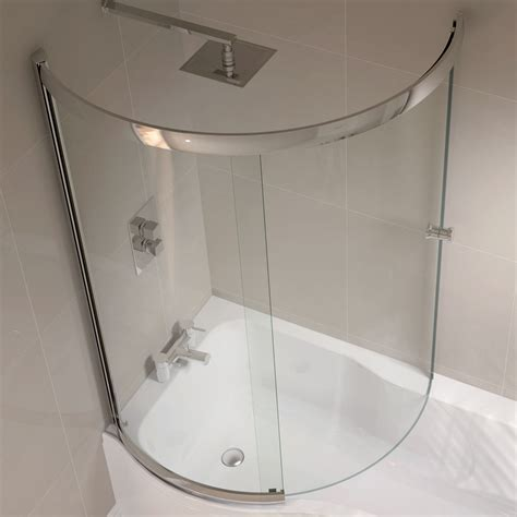curved shower screen for corner bath april p shape sliding bath screen left or right