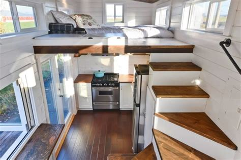tiny home with a big kitchen tiny house on wheels w big kitchen and double sink vanity