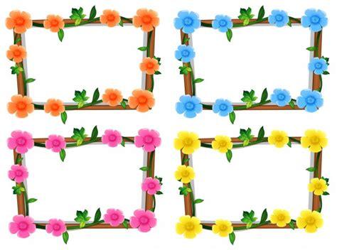 clipart cornici gratis quattro disegno di cornici con illustrazione di fiori