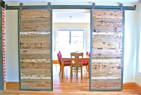 Recycled Barn Doors Handmade Industrial Reclaimed Barn Doors On Steel Track By Grains Woodworks Custommade