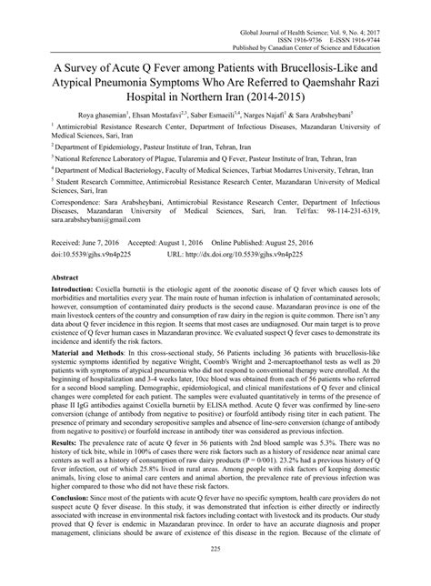 Pdf Cortana What Are The Symptoms Of Pneumonia pdf a survey of acute q fever among patients with