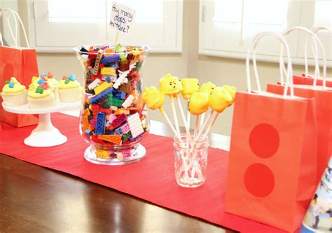 1st Birthday Decoration At Home by Lego Party Ideas Around My Family Table
