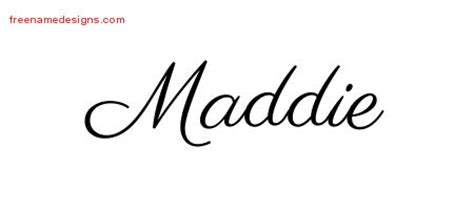 classic name tattoo designs maddie graphic download free