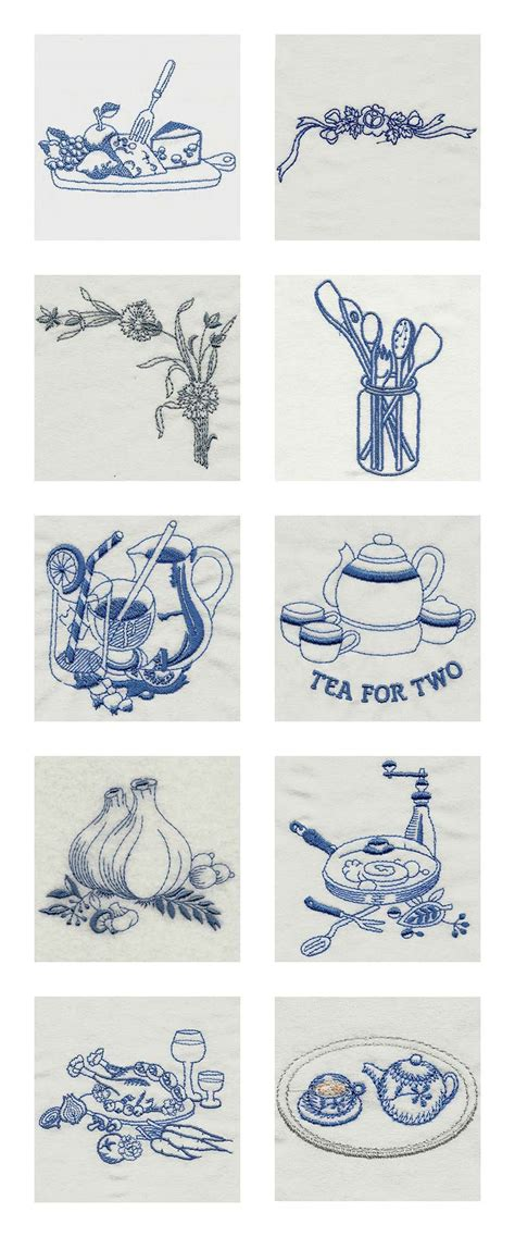 machine embroidery designs vintage kitchen 2 set