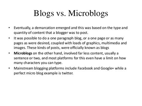 blogger vs blogspot blogs and microblogs