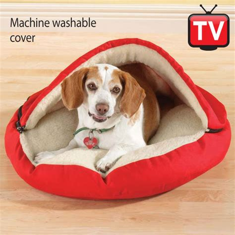 pet cave bed holiday gift ideas personalized canvas pet cave dog bed