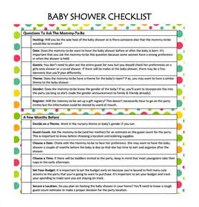 baby shower checklist template sle checklist 13 documents in pdf word