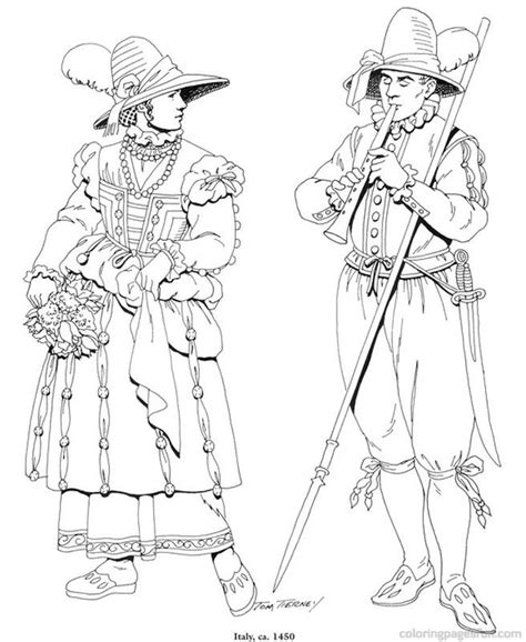 renaissance dress coloring page 82 best coloriage histoire images on pinterest coloring