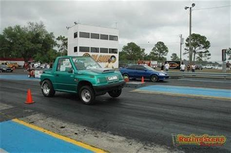 1995 geo tracker convertible 1/4 mile drag racing timeslip
