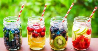 vitamin detox water for a flat tummy and clear skin