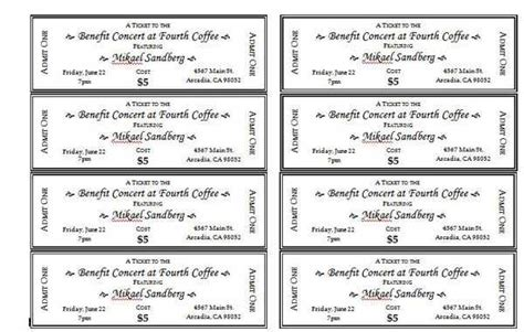 templates for tickets with stubs 6 7 free printable raffle tickets with stubs