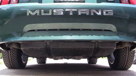 2000 ford mustang exhaust 2000 ford mustang 3 8l with dual flowmaster exhaust start