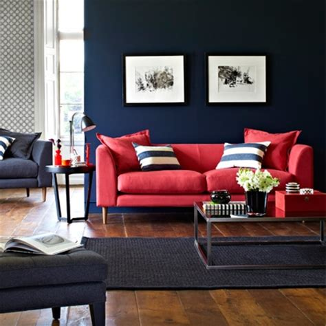 red sofa what colour walls bold colour living rooms red online