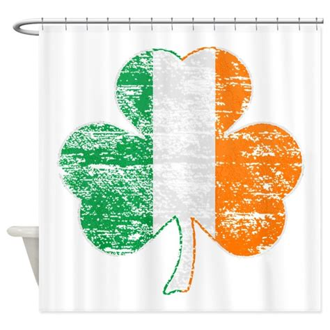 shamrock shower curtain vintage irish flag shamrock shower curtain by saintpaddysshop