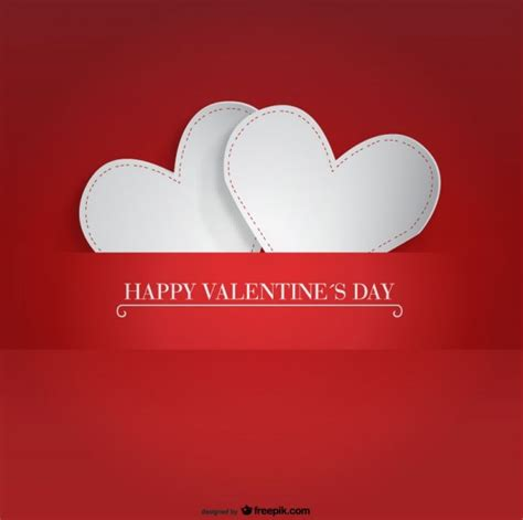 Free Valentines Day Card Templates For Photoshop by Two Paper Hearts Design For S Day Card Vector