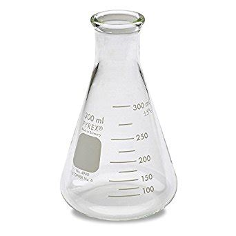 Beaker 300ml Conical Iwaki Pyrex corning 4980 300 pyrex narrow erlenmeyer flask with heavy duty 100 ml capacity 300 ml