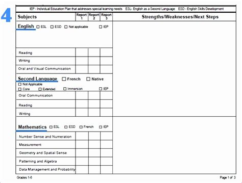 J Card Template Pdf by 7 Microsoft Excel Report Card Template Exceltemplates