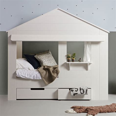 kids house bed kids house cabin bed with storage drawers by cuckooland