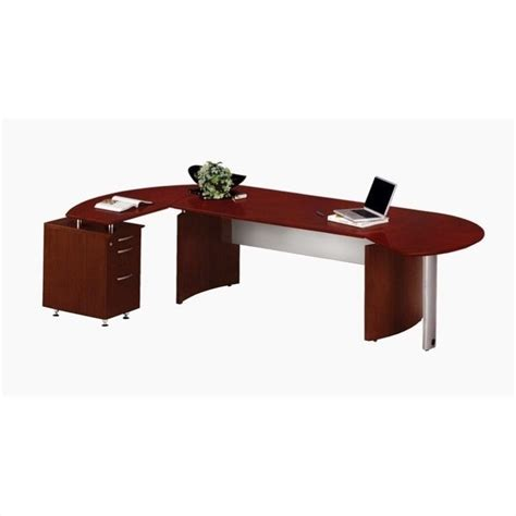 mahogany desk l shaped mayline medina series l shaped computer desk in mahogany